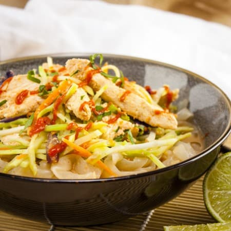 Spicy Chicken and Peanut Shirataki Noodles