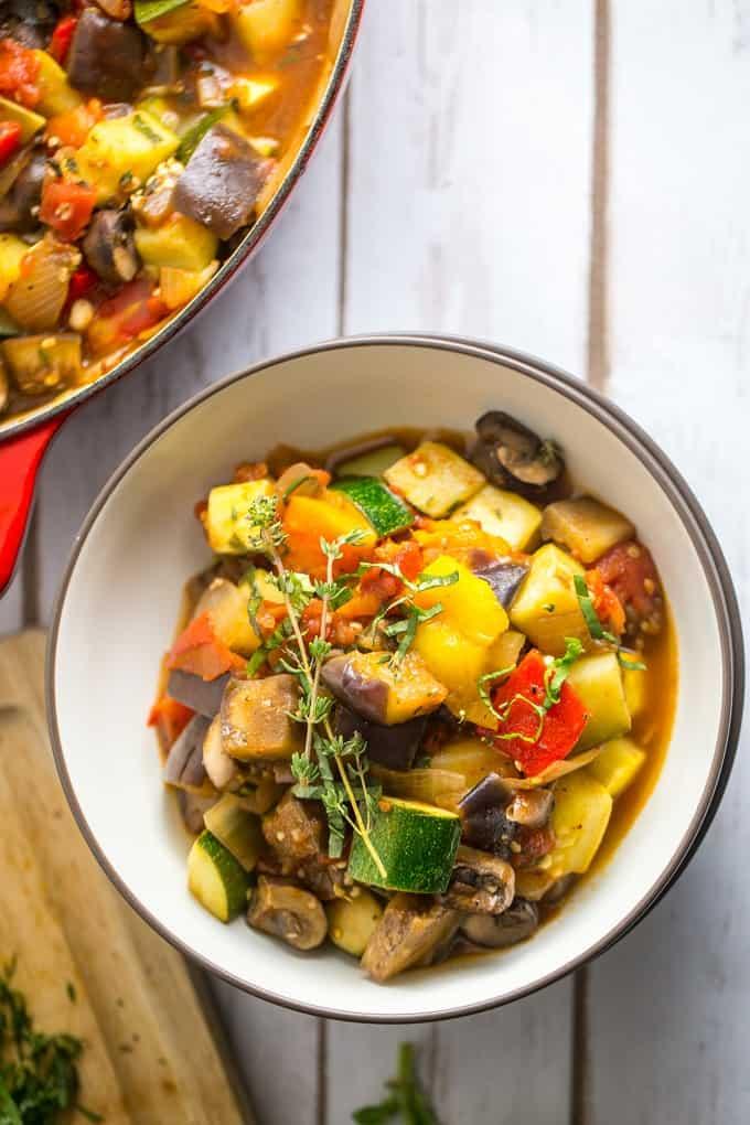 Summer vegetable ratatouille is a meal the family will love