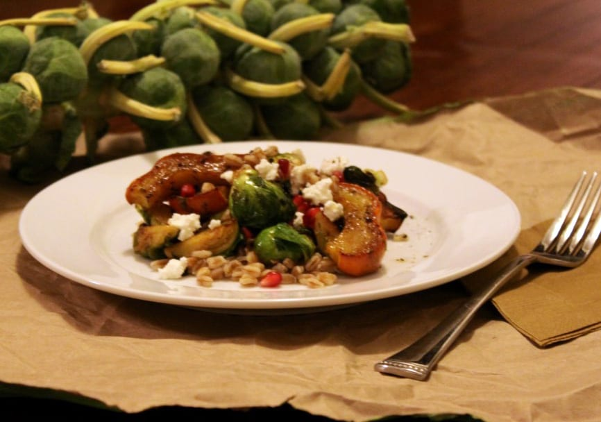 Squash, Brussels Sprout and Farro Salad