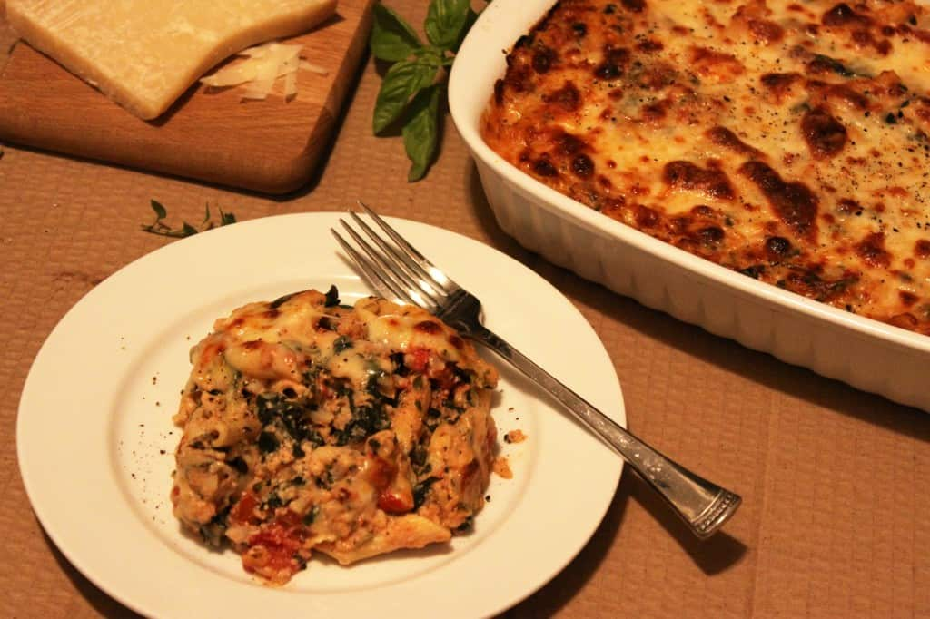... ziti with spicy pork and sausage ragu low fat baked ziti with spinach