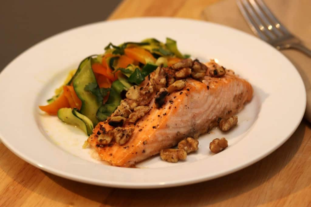 Maple Walnut Salmon Hero
