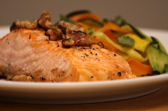 Quick and easy Maple Walnut Salmon