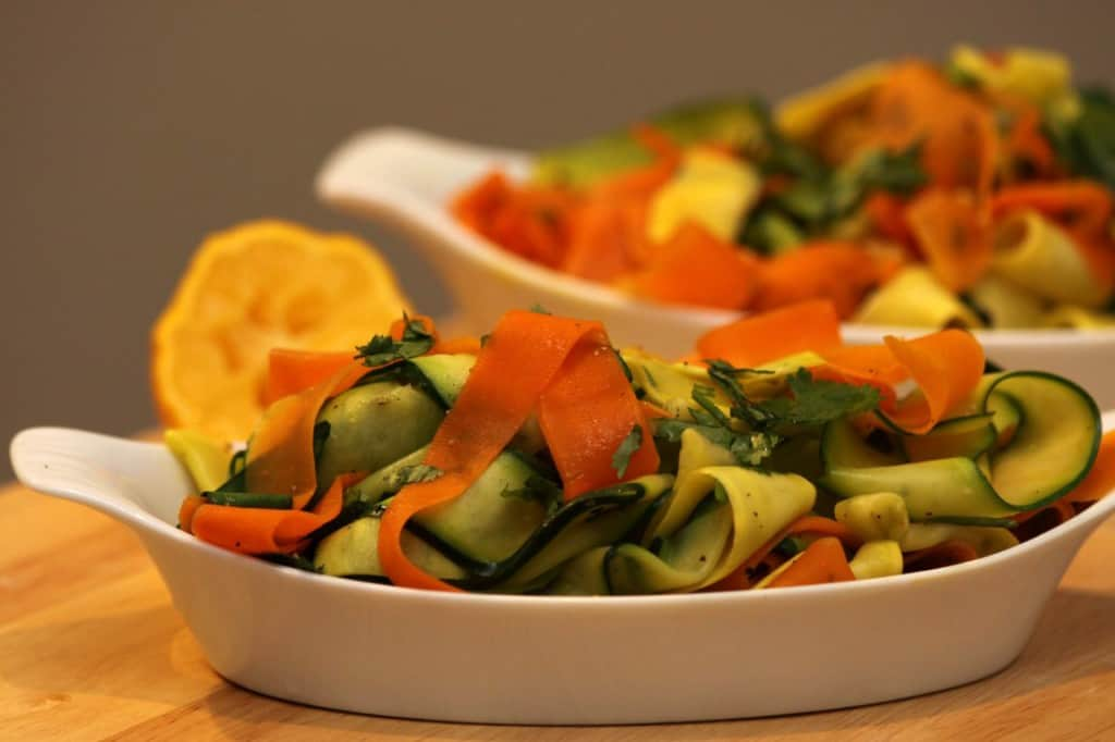 Carrot, Zucchini, and Squash Ribbons