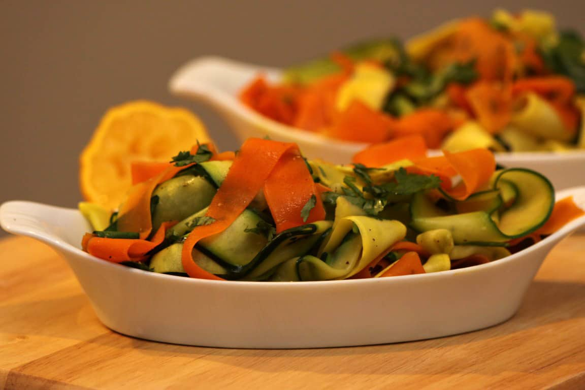 Carrot, Zucchini, and Squash Ribbons | Home Sweet Jones