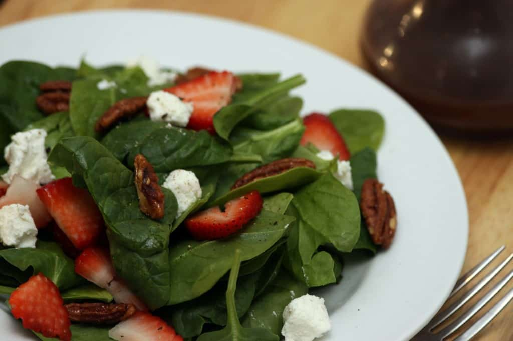 strawberry spinach salad hero