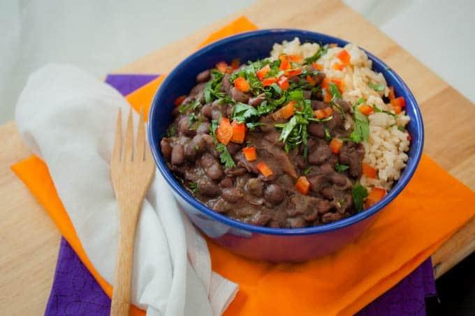 Cuban Crockpot Black Beans