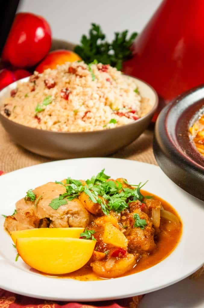 Stonefruit and Chicken Tagine Pinnable