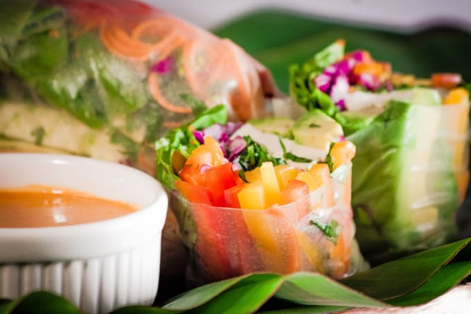 Image result for veg summer roll vietnamese