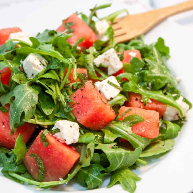 Watermelon, Feta and Arugula Salad | Home Sweet Jones