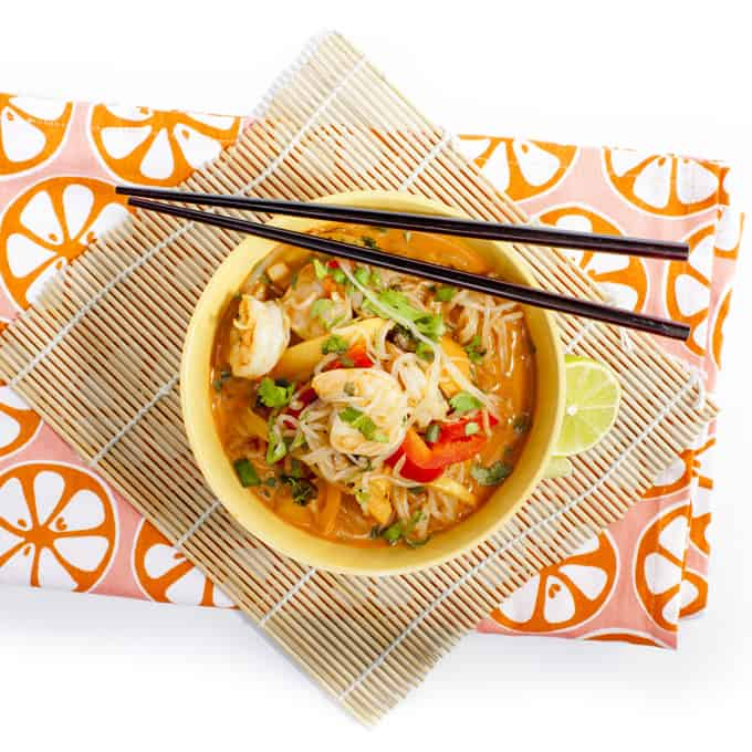 Coconut Red Curry Shrimp Miracle Noodles