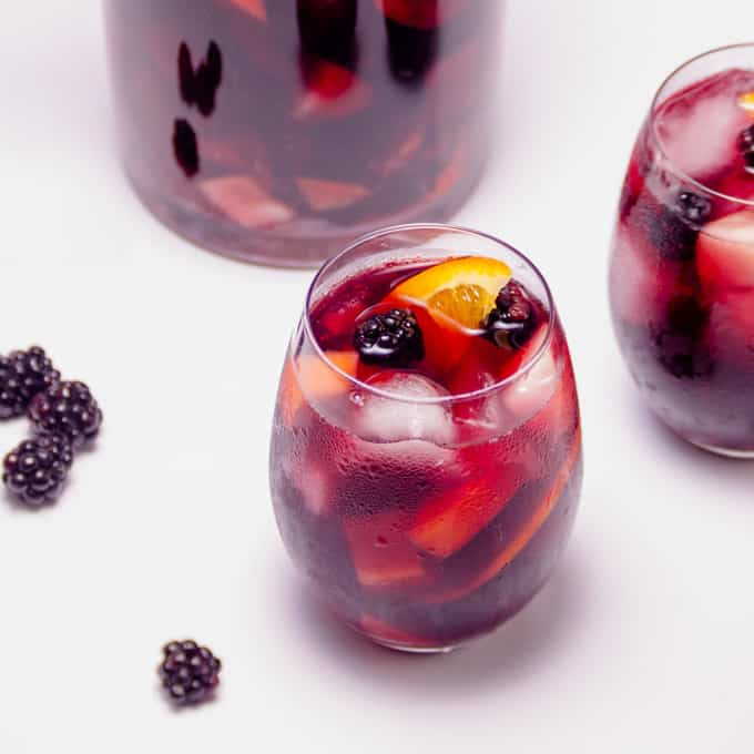 Simple Summer Red Wine Sangria