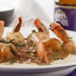 Voodoo shrimp and grits close up