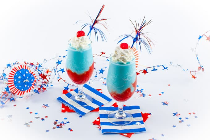 Red, White and Blue Piña Colada Recipe