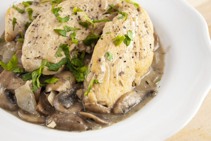 Gluten-Free Chicken in Creamy Mushroom Sauce Recipe