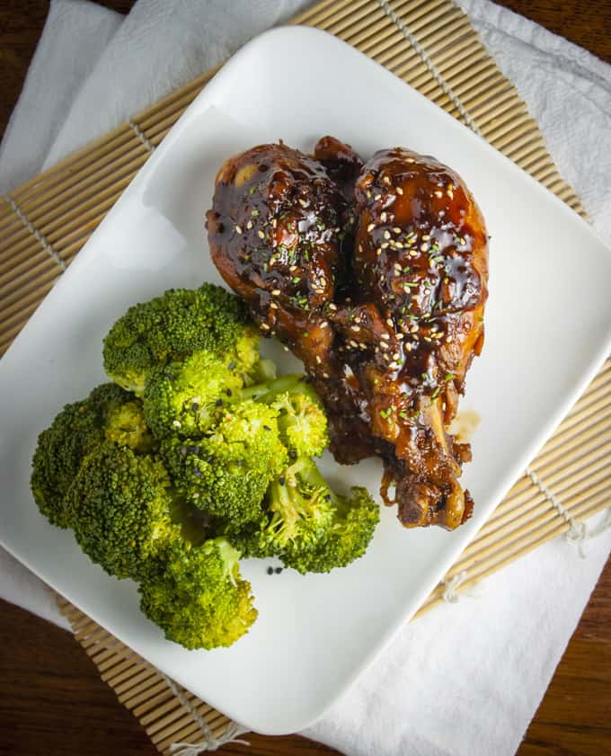 Asian Glazed Chicken Drumsticks - Home Sweet Jones
