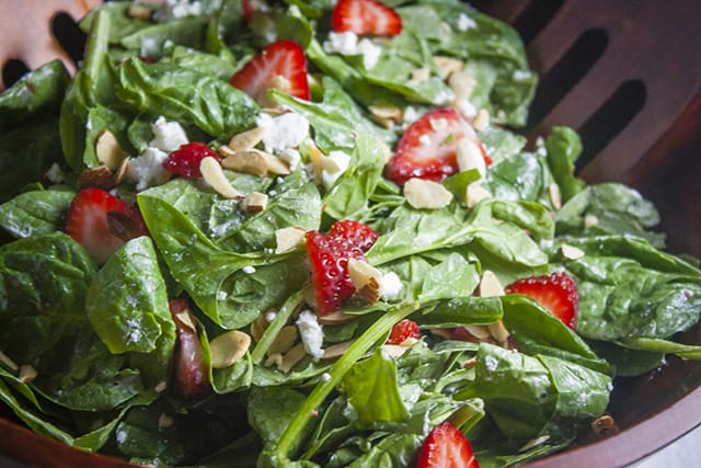Strawberry, Spinach, Goat Cheese Salad
