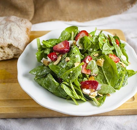 Strawberry, Spinach and Goat Cheese Salad