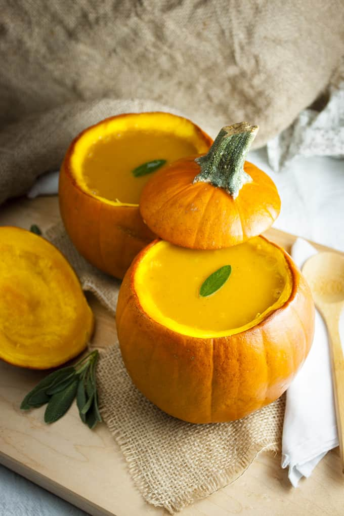 Pumpkin Squash Soup with Sage
