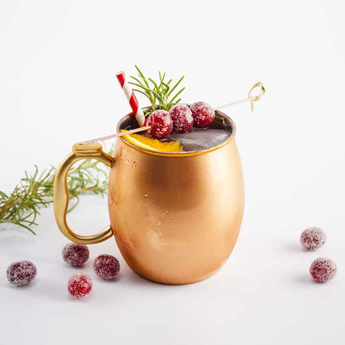 Cranberry and Ginger Holiday Mule