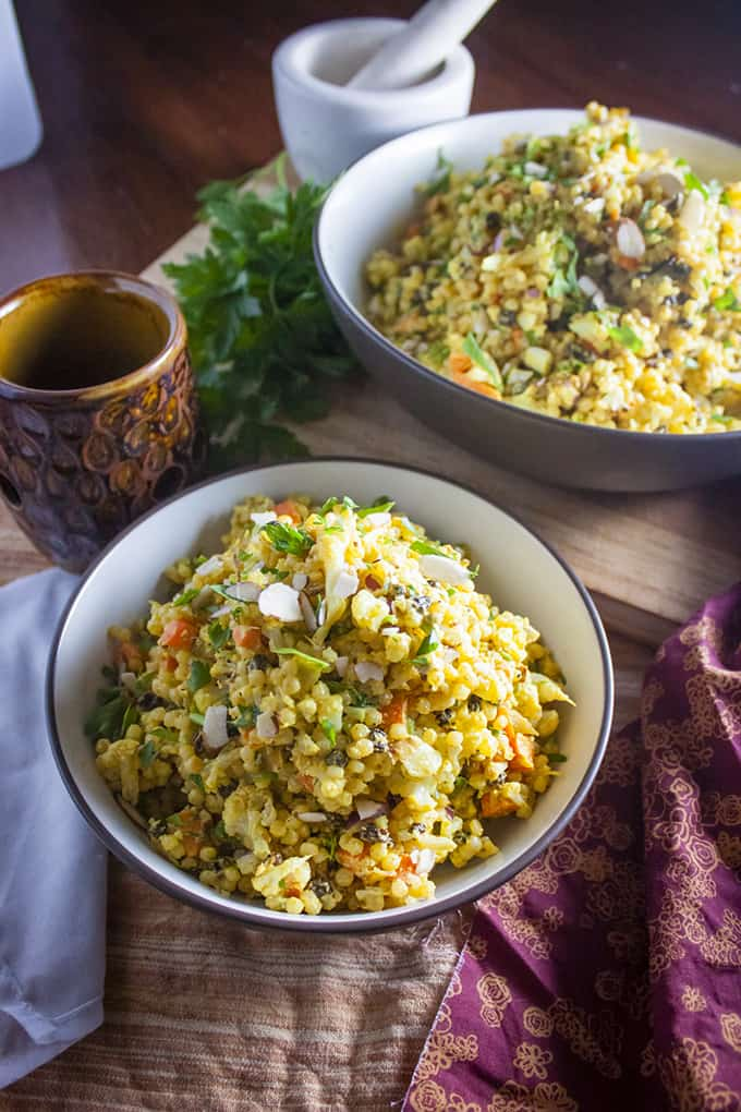 almonds curried couscous salad with dried cranberries pearl ..