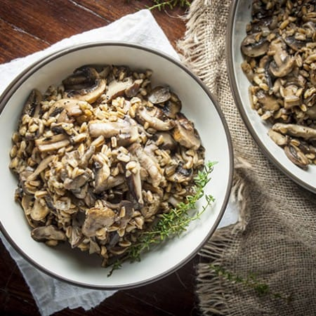 Sauteed Mushrooms and Farro