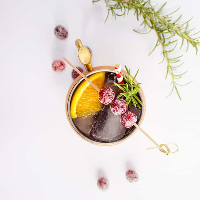 Holiday Mule with cranberries
