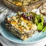 Light and healthy vegetarian lasagna