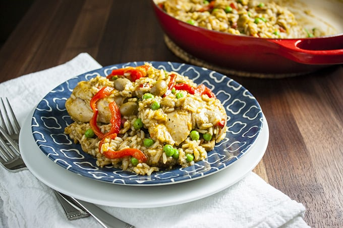 Lightened up Arroz con Pollo
