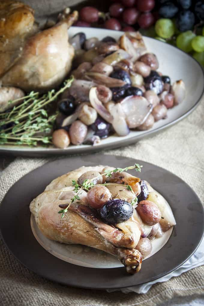Roasted Grape and Shallot Chicken