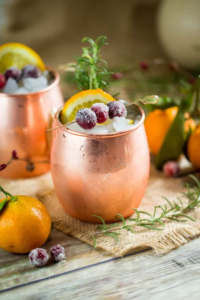 A holiday twist on the Moscow Mule is the drink for Thanksgiving Entertaining