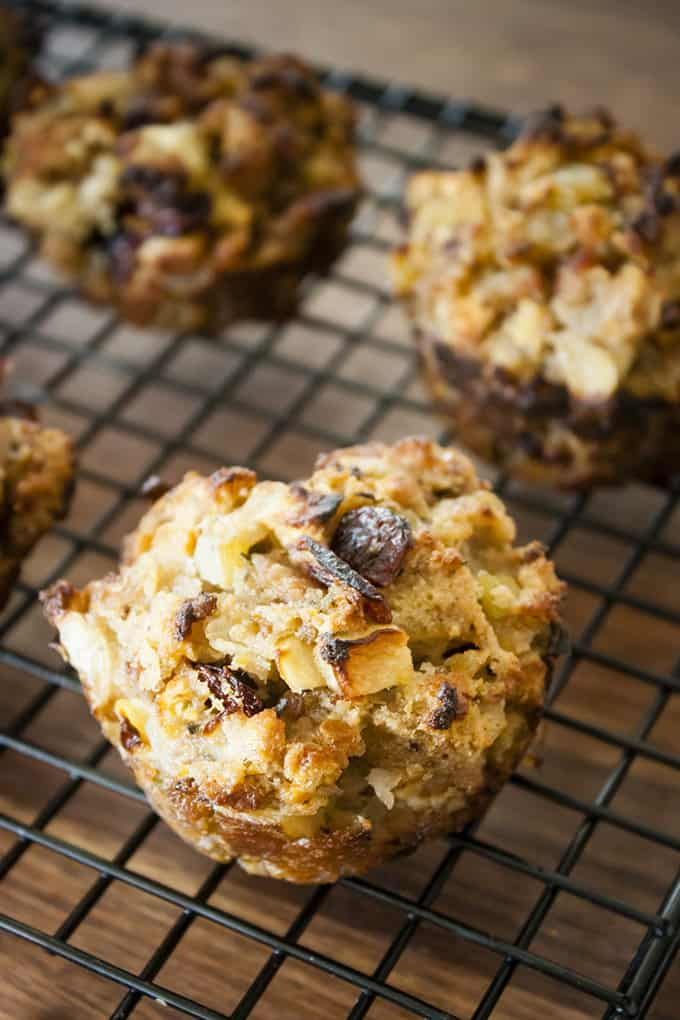 Apple Sausage Stuffing Muffin