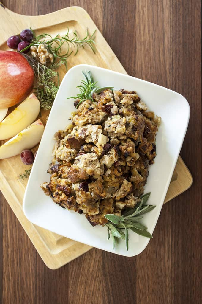 Apple Sausage Stuffing with Herbs