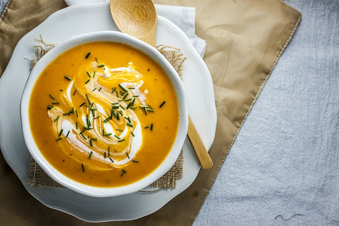 Creamy Carrot Ginger Soup - Home Sweet Jones