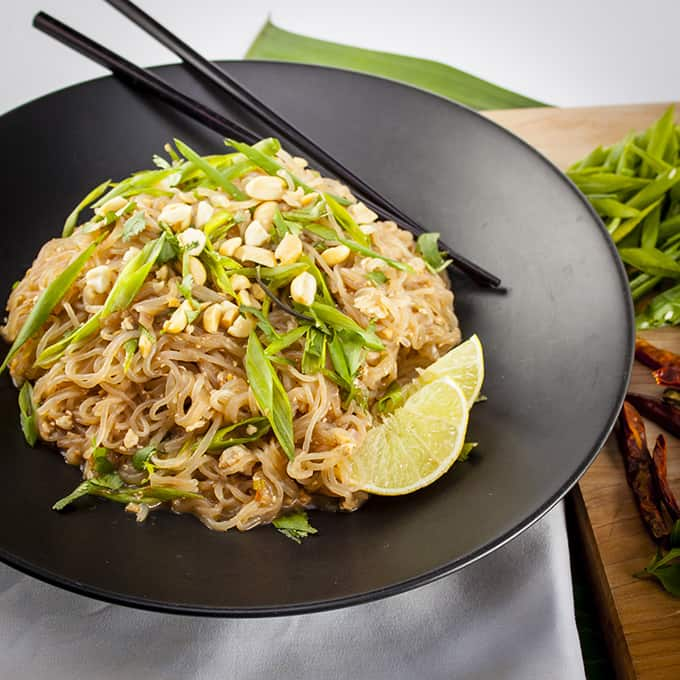 Fast and easy vegan, gluten-free Pad Thai