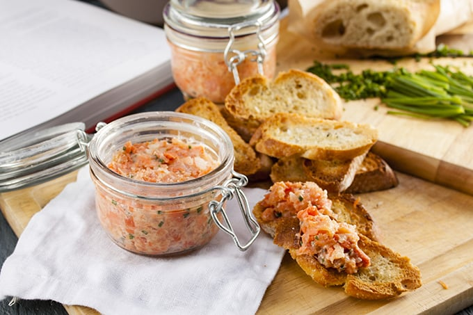Potted make-ahead salmon rillettes