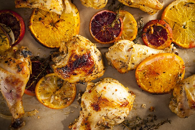 Quick and easy citrus herb baked chicken