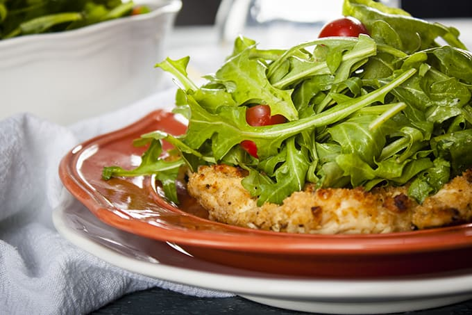 Quick and easy, light and healthy Chicken Milanese