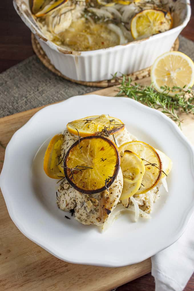 Super fast, gluten-free Citrus Herb Baked Chicken
