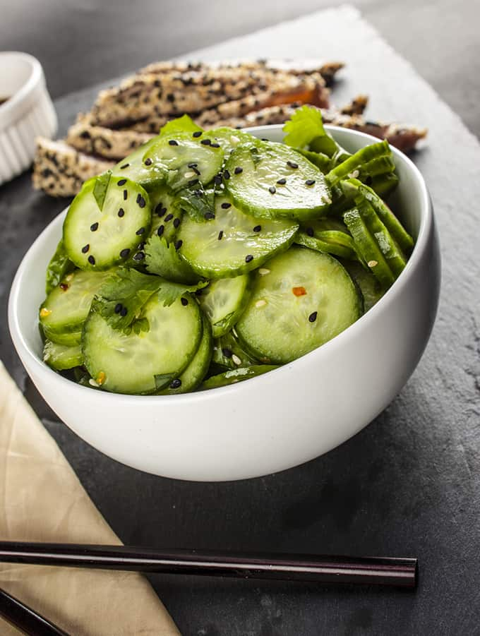 This Asian Cucumber Salad comes together in minutes