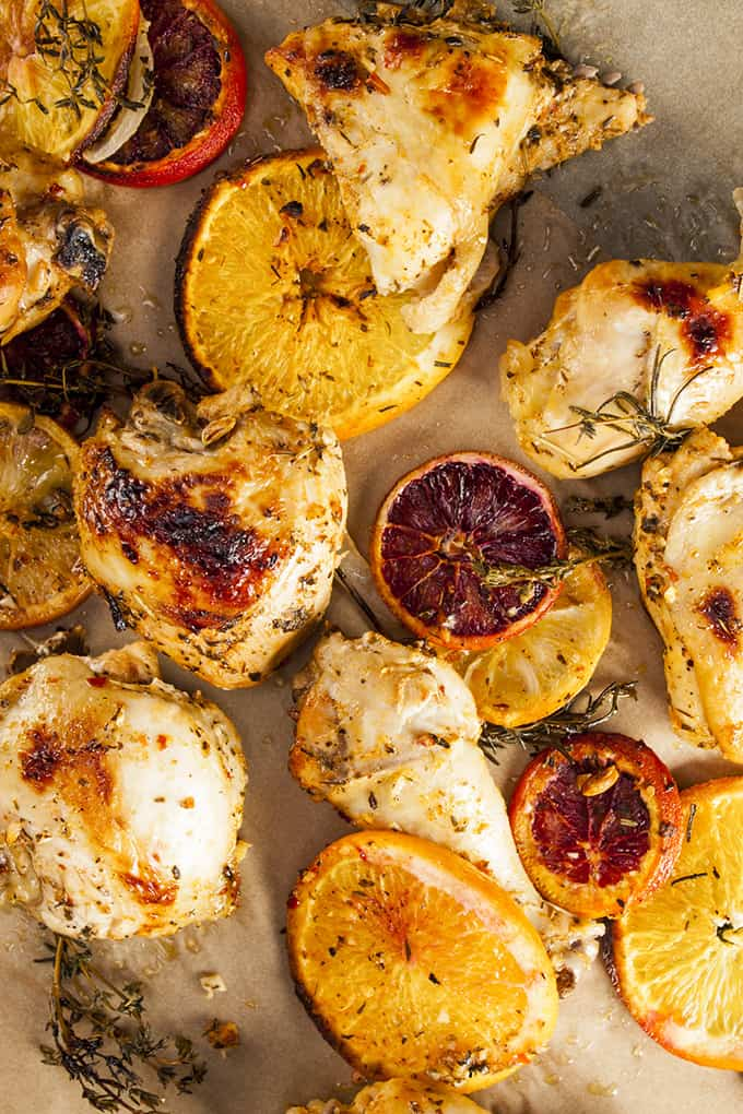 This Citrus Herb Baked Chicken is so easy but SO AMAZING