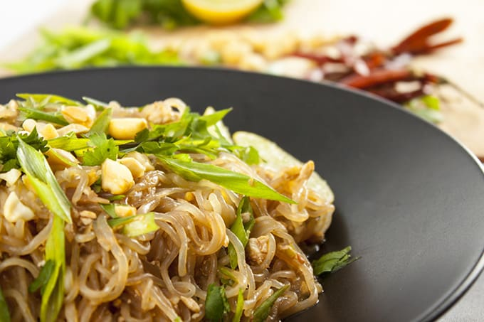 This amazing Pad Thai is vegan, gluten-free, and super fast to prepare