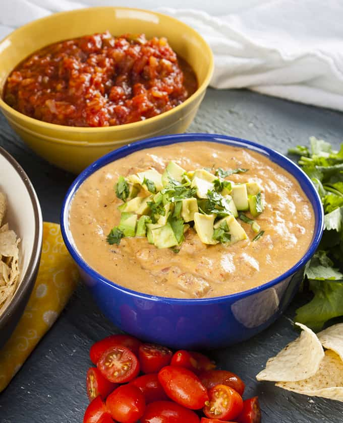 This creamy vegan queso will satisfy all your guests on game day