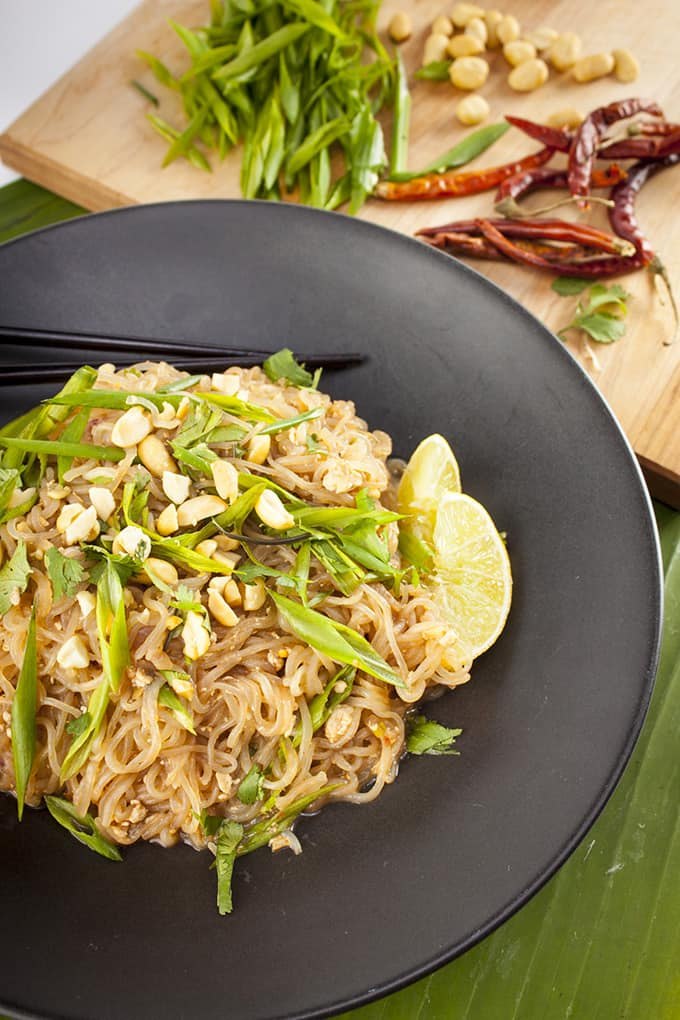This vegan, gluten-free Pad Thai comes together in 30 minutes.