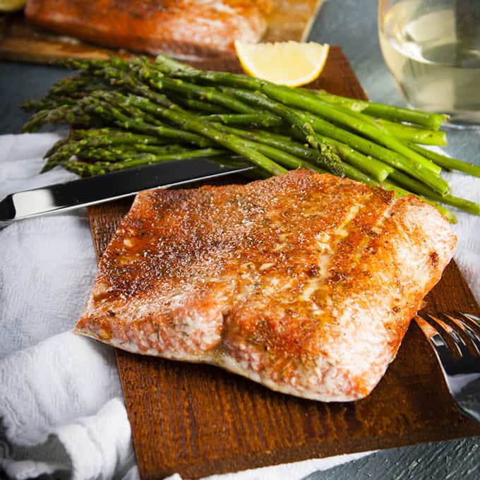 Cedar Plank Salmon in the Oven