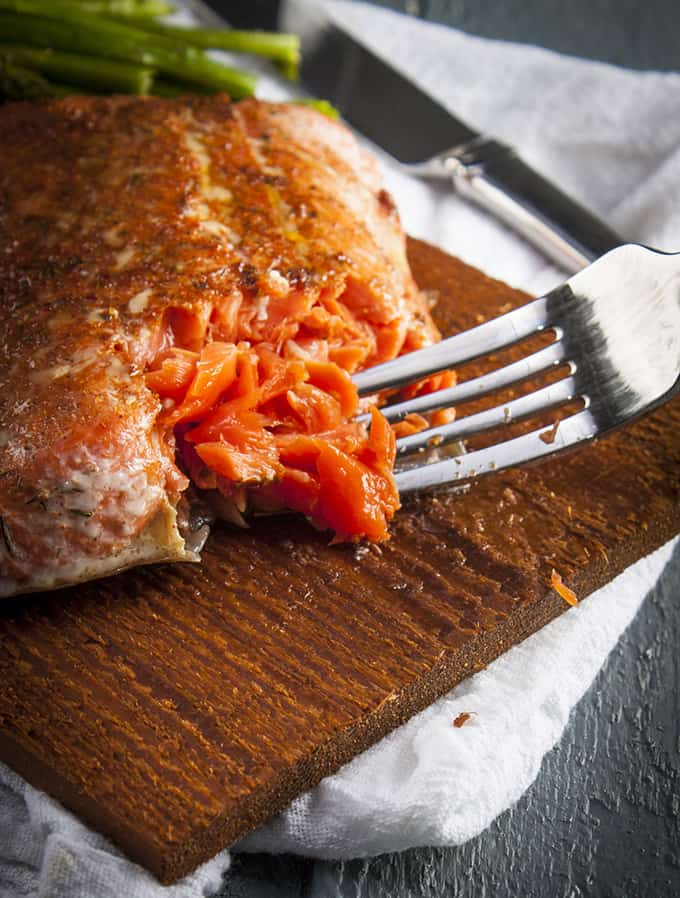Cedar-cooked salmon turns out buttery, flaky and firm every time