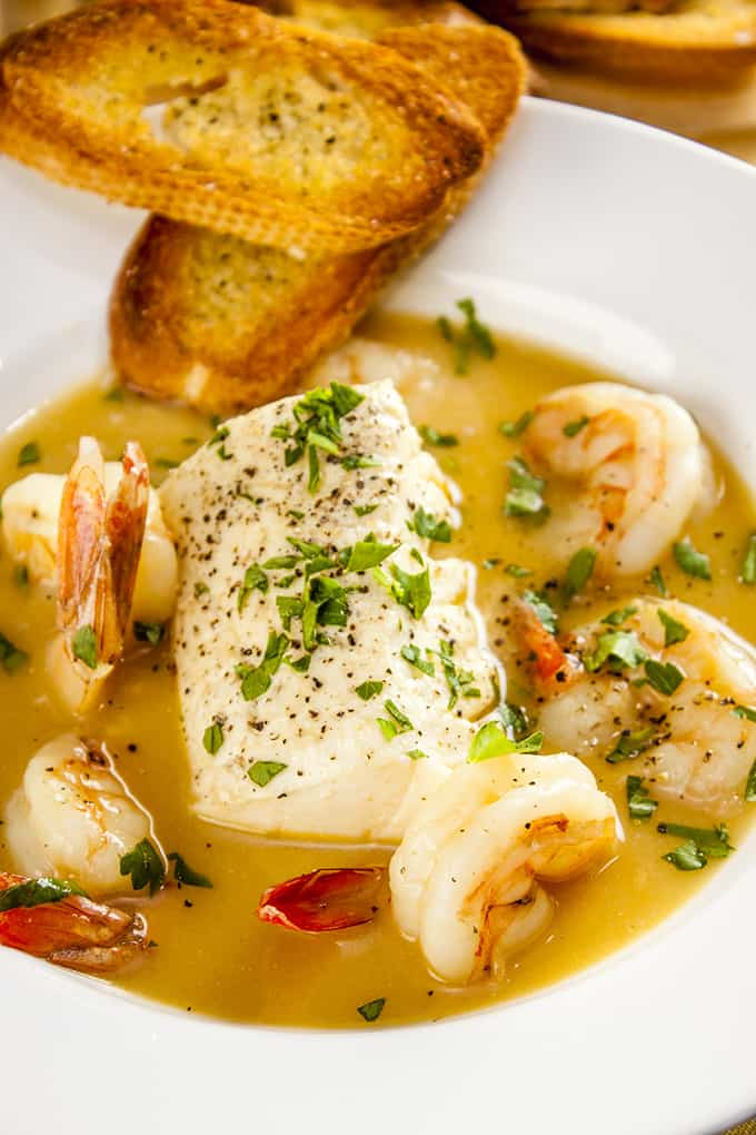 Luxuriously flavorful French seafood stew