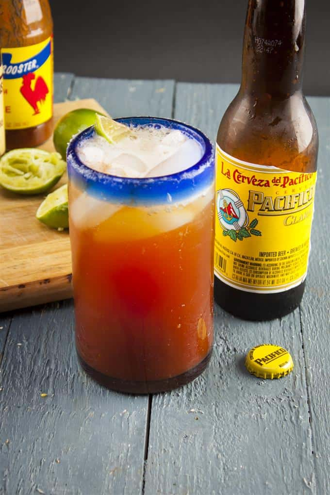 A refreshing Michelada is perfect for a sunny day