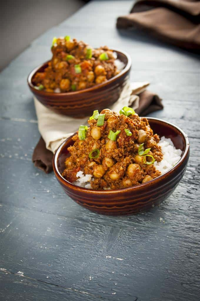 Vegan Spanish chorizo with chickpeas