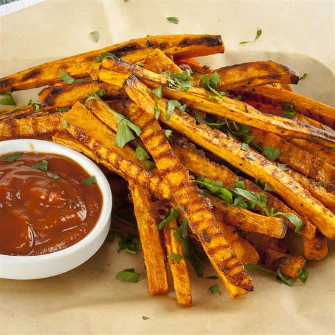 Recipe for Crispy Baked Sweet Potato Fries
