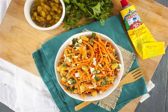 This Simple Moroccan Carrot Salad is perfect for picnics